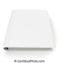 3d  white book with blank cover