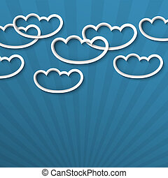 3d white clouds. Vector illustration
