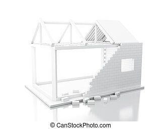 3d White house under construction