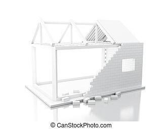 3d White house under construction