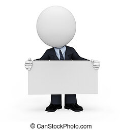 3d white people as business man - 3d rendered illustration ...
