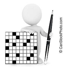 3d white people crossword