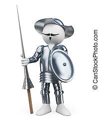 3D white people. Don Quixote of la Mancha - 3d white people....