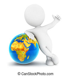 3d white people earth