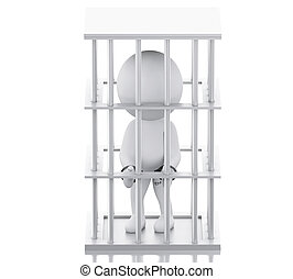 3D White people in prison.