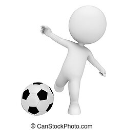 3d white people playing football