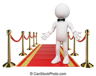 3D white people. Welcome to the Red Carpet - 3d white...