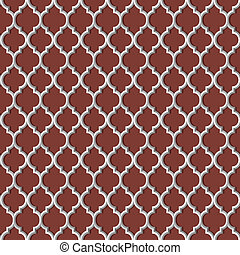 3d white seamless pattern in arabic style