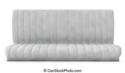 3d white sofa on white background