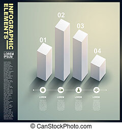 3d white statistics template infographic elements