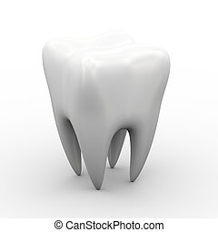 3d white tooth