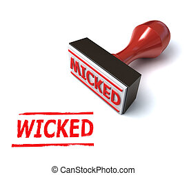 3d wicked stamp