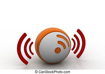 3d, wifi, ikona
