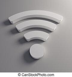 3D wifi wireless logo