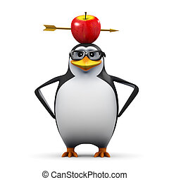 3d William Tell penguin