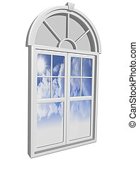 window  - 3d window illustration