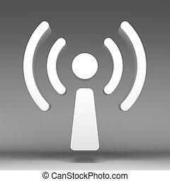 3d wireless icon