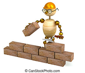 3d wood man builder