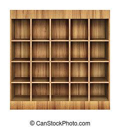 3d Wooden book Shelf