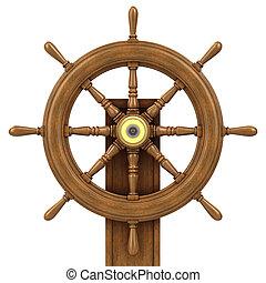 3d Wooden ships wheel
