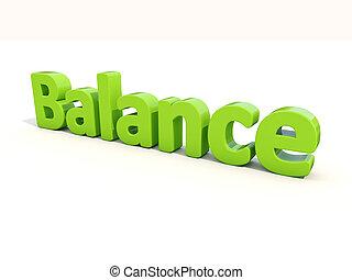 3d word balance