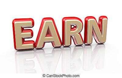 3d word earn