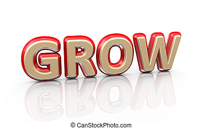 3d word grow