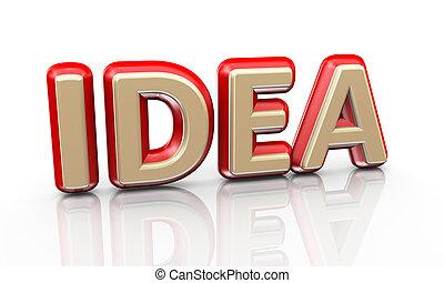 3d word idea