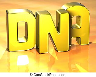 3D Word on yellow background