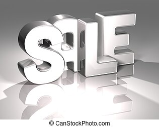 3D Word Sale on white background