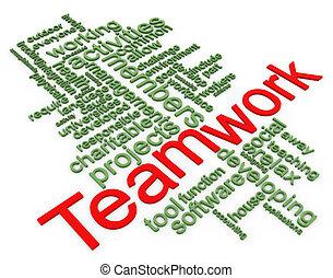 3d Wordcloud of teamwork