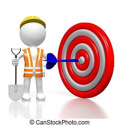 3D worker - dart concept