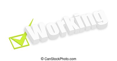 3d Working Text