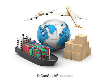 3d World cargo transport concept