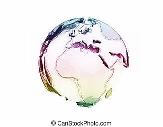 3d world globe isolated on white