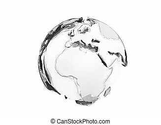 3d world globe isolated on white