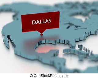 3d world map sticker - City of Dallas