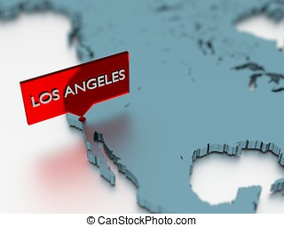3d world map sticker - City of Los Angeles