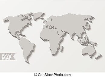 3d world map 3d world map with color confetti vector paper 3d world map gumiabroncs Image collections