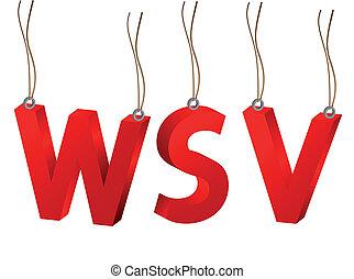 3D WSV German words