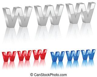 3D www symbol