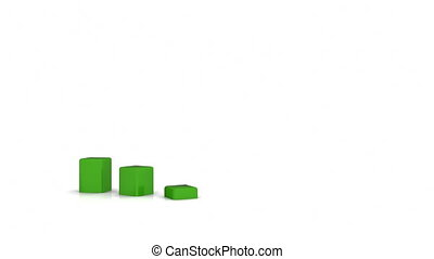 3d, wykres, handlowy, dane