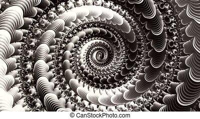 3d., wzory, fractal, czarnoskóry, biały, następstwo