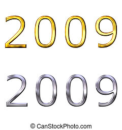 3d year of 2009 in gold and silver