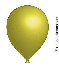 3d Yellow Balloon