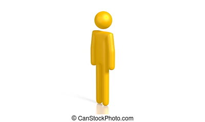 3D yellow cartoon character