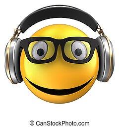 3d yellow emoticon smile