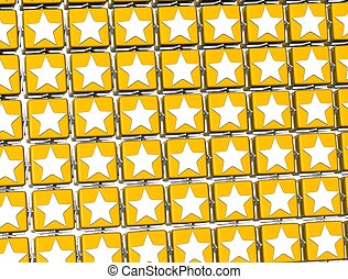 3D Yellow Stars Sign blocks