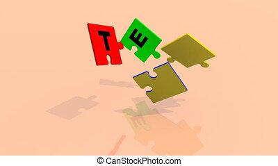 3d, zagadka, pokaz, przedimek określony przed rzeczownikami, słowo, drużyna