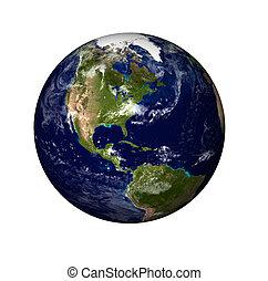 Błękitny Słońce Planeta 3d Ziemia Błękitny Planet Ziemia
